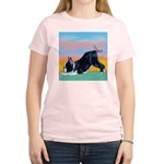 Boston Bull Terrier Women's Pink T-Shirt