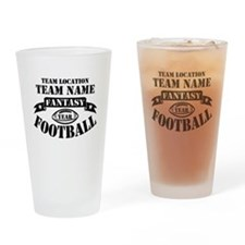 Personalized Fantasy Blk Drinking Glass