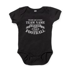 FANTASY FOOTBALL PERSONALIZED GREY Baby Bodysuit