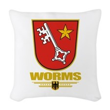 Worms COA.png Woven Throw Pillow