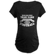 Your Team Fantasy Wht Maternity T-Shirt
