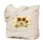Owls Autumn Song Tote Bag