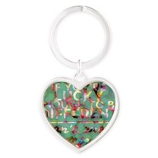 If You're Lucky Enough to be Differ Heart Keychain