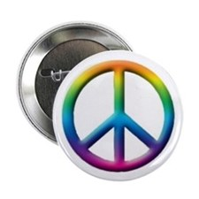 10 pack of the Rainbow Peace Button