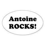 Antoine Rocks! Oval Decal