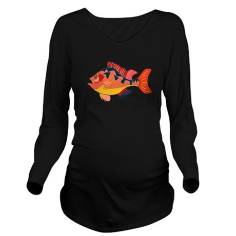 fish Long Sleeve Maternity T-Shirt