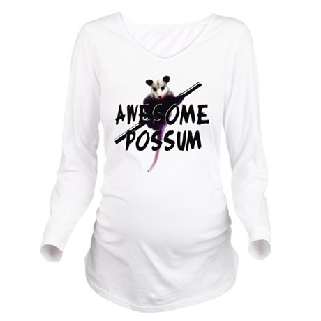 Awesome Possum Long Sleeve Maternity T-Shirt