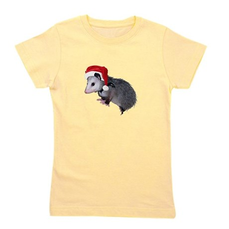 santaspossum.png Girl's Tee