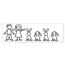 bunny family sticker Bumper Sticker