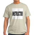 Instructor (Front) Ash Grey T-Shirt