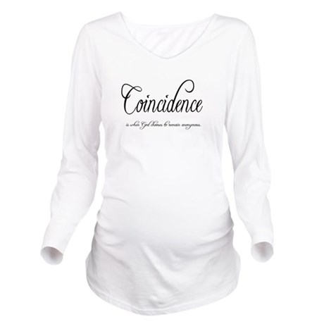 coincidence Long Sleeve Maternity T-Shirt