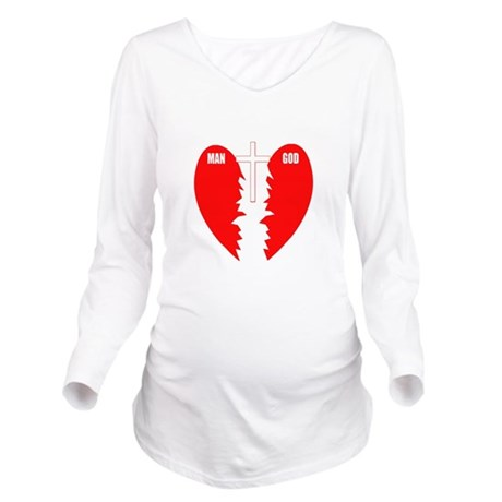 cross bridge Long Sleeve Maternity T-Shirt