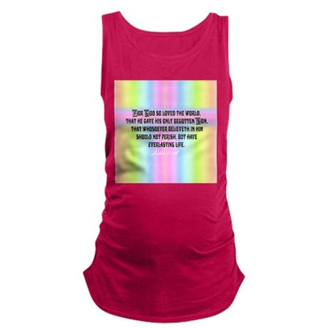 John 3:16 Rainbow Maternity Tank Top