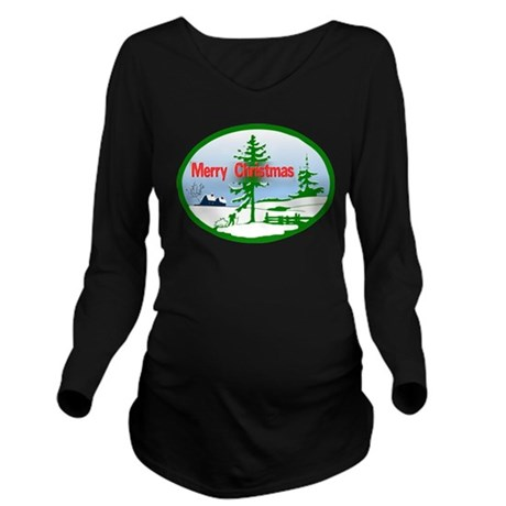 countrysnow2b.png Long Sleeve Maternity T-Shirt