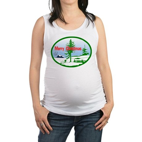 countrysnow2b.png Maternity Tank Top