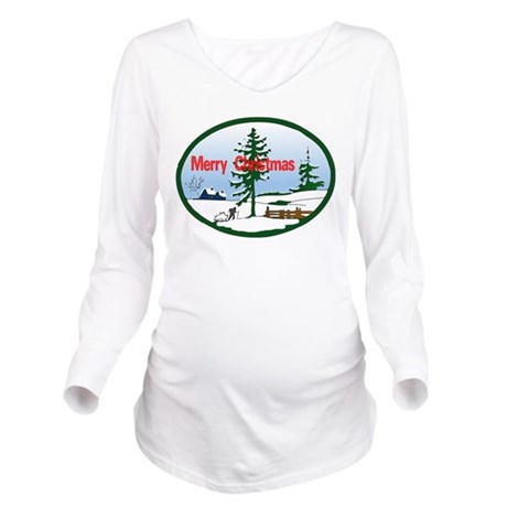 countrysnow2.png Long Sleeve Maternity T-Shirt