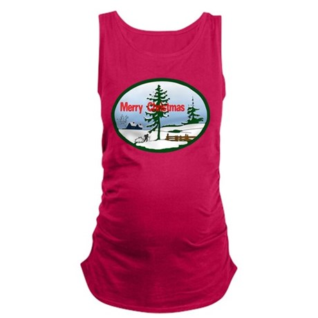 countrysnow2.png Maternity Tank Top