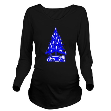 Christmas_Tree2c.png Long Sleeve Maternity T-Shirt