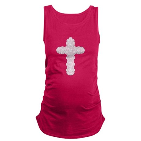 cross28.png Maternity Tank Top