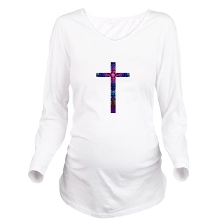 Cross 012 Long Sleeve Maternity T-Shirt