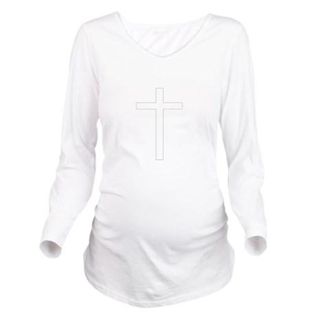 Cross Long Sleeve Maternity T-Shirt