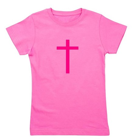 Pink Cross Girl's Tee