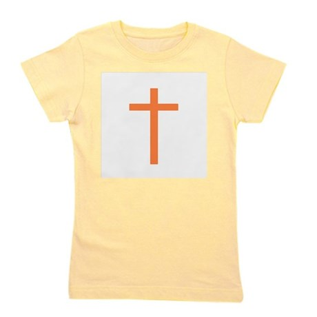 Orange Cross Girl's Tee
