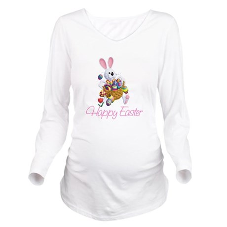 rabbit3.png Long Sleeve Maternity T-Shirt