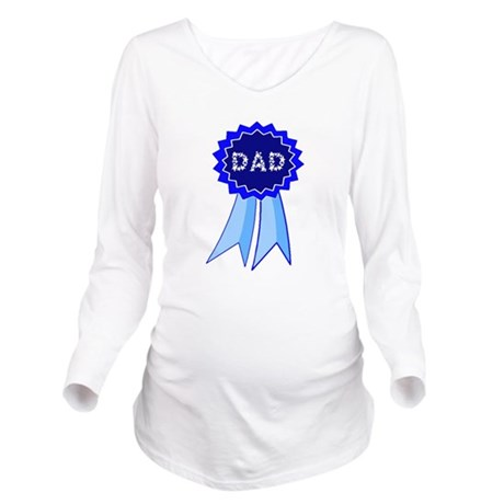 dadribbon.png Long Sleeve Maternity T-Shirt