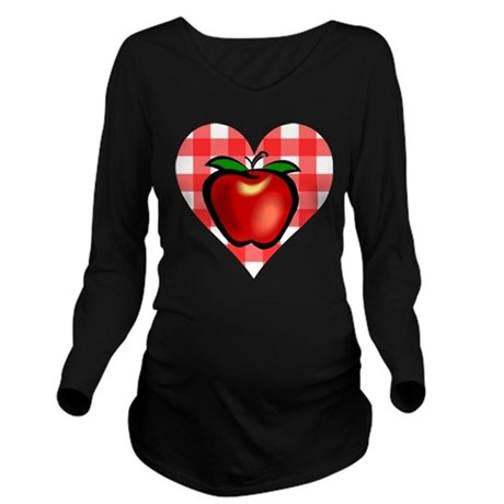 applechecks2.png Long Sleeve Maternity T-Shirt