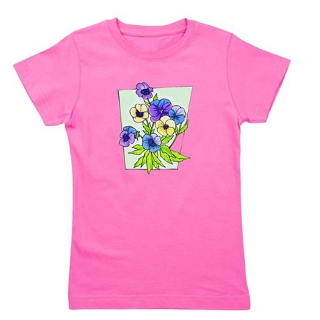 pansies.png Girl's Tee