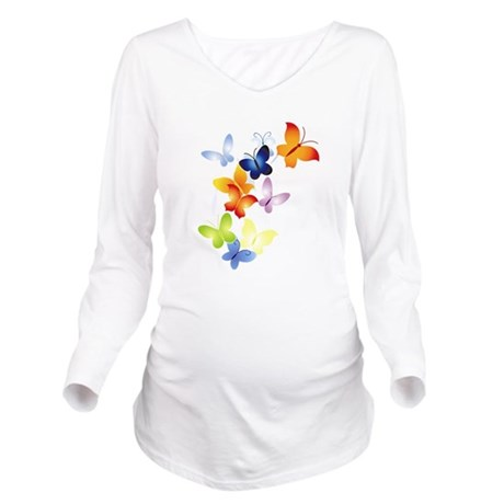 butter1.png Long Sleeve Maternity T-Shirt