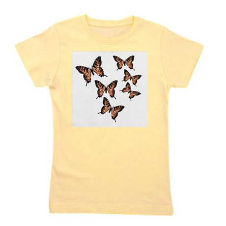 Orange Butterflies Girl's Tee