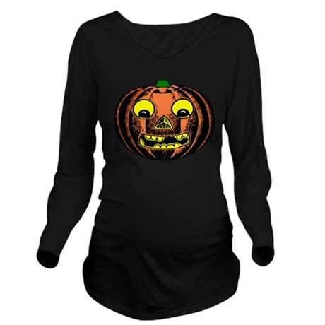 jackolantern2ab.png Long Sleeve Maternity T-Shirt