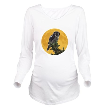 owlmoon.png Long Sleeve Maternity T-Shirt