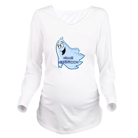 ghost4b.png Long Sleeve Maternity T-Shirt