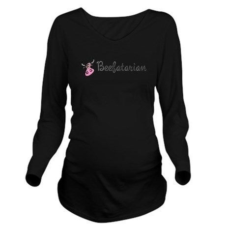 beefatarian.png Long Sleeve Maternity T-Shirt