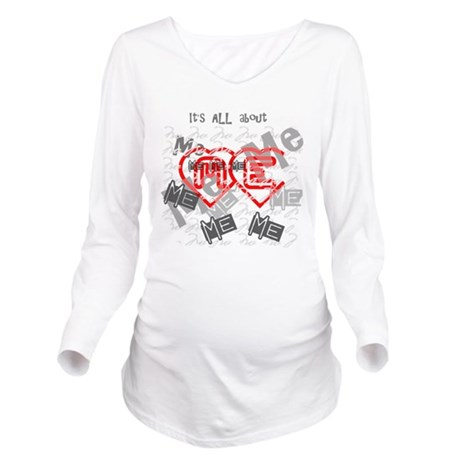 me1b.png Long Sleeve Maternity T-Shirt