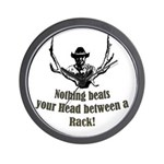 Nothing beats your head betwe Wall Clock
