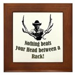 Nothing beats your head betwe Framed Tile