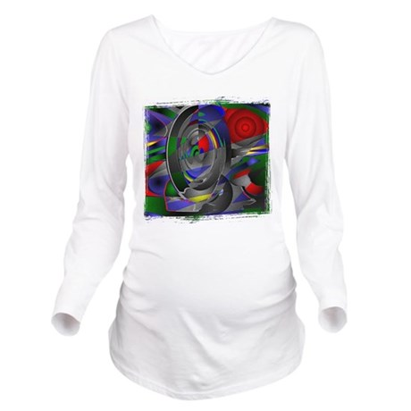 Abstract 002a Long Sleeve Maternity T-Shirt