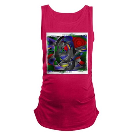 Abstract 002a Maternity Tank Top