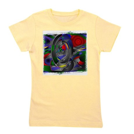 Abstract 002a Girl's Tee