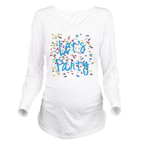 party.png Long Sleeve Maternity T-Shirt