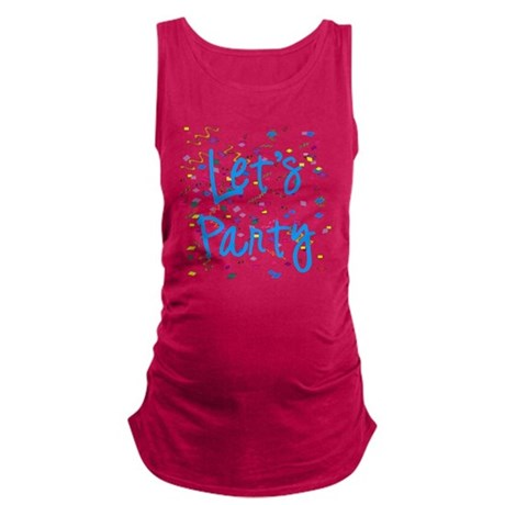 party.png Maternity Tank Top