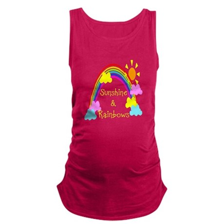 rainbow sunshine Maternity Tank Top
