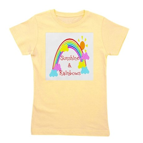 rainbow sunshine Girl's Tee