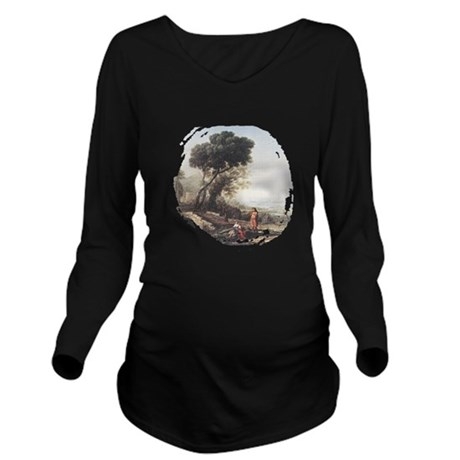 claudeLorrain3.png Long Sleeve Maternity T-Shirt