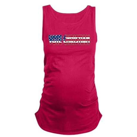 votechrist1a.png Maternity Tank Top