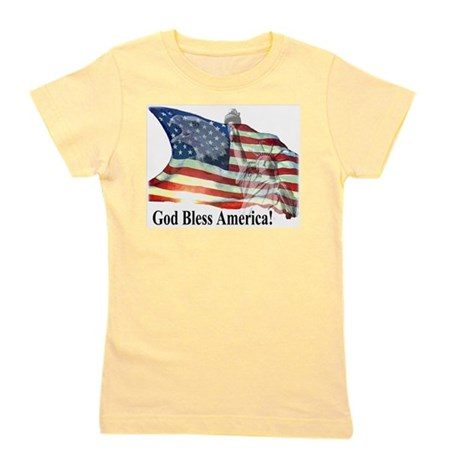 God Bless America! Girl's Tee